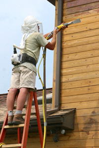 Log Home Media Blasting Log Building Maintenance And