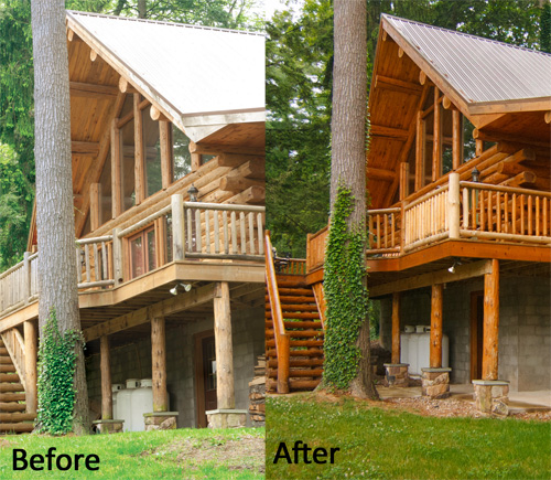 Log Home Finishes Exterior